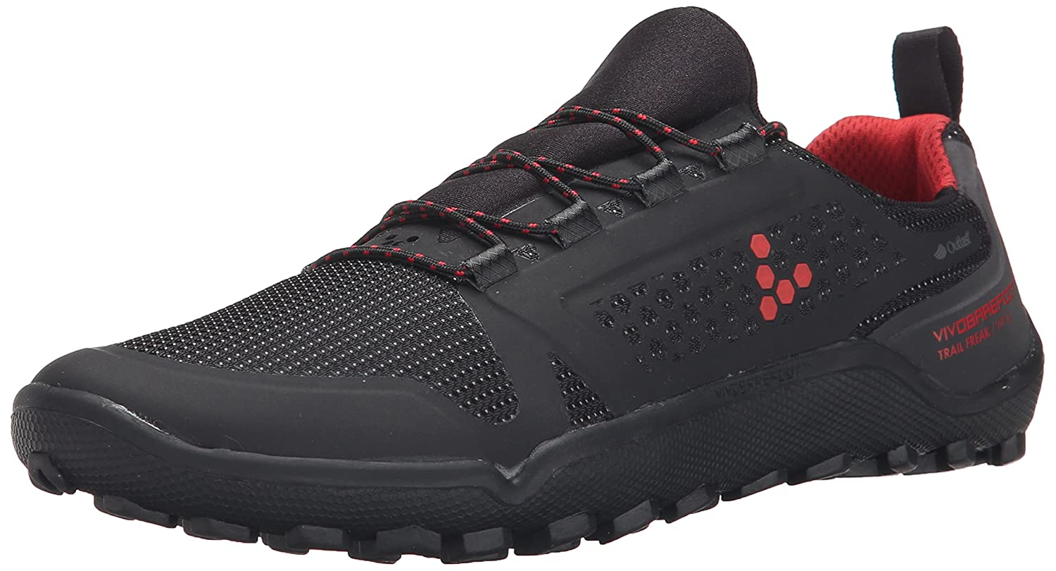 Vivobarefoot Women's Trail Freak Off-Road Run-Walk Trail Shoe B00TRQXPYG 40 EU/9-9.5 M US|Black/Red