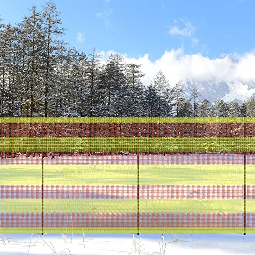Valla de seguridad V Protek, vallado de nieve, red de ciervo, malla de 7, 62 cm x 97, 8 cm, barrera temporal de plástico, para niños, piscina, seda de jardín, césped, conejos,