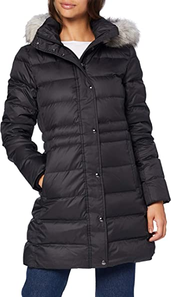 TALLA S. Tommy Hilfiger TH ESS Tyra Down Coat with Fur Chaqueta para Mujer