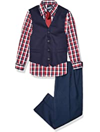 057981956 Nautica Baby Boys 4-Piece Set with Dress Shirt, Vest, Pants, and