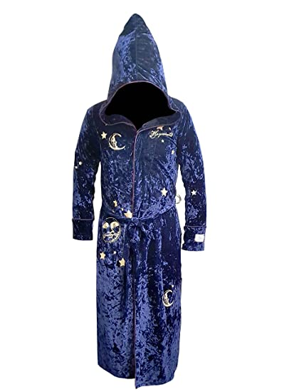 Harry Potter Navy Women s Fleece hooded dressing gown bathrobe (UK 6-8   EU a74d5ba15