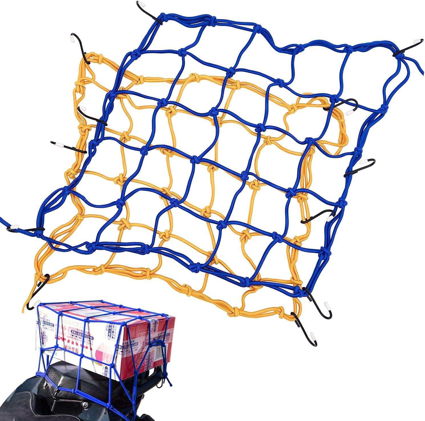 Jjyhehot Motorrad Netz Fester Zusatzhelm Oder Rucksack Zur Erleichterung Des Reisens 2 Stück Auto
