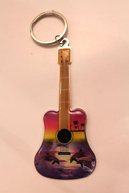 Amazon.com: Guitarra con forma de llavero dentro hay a ...