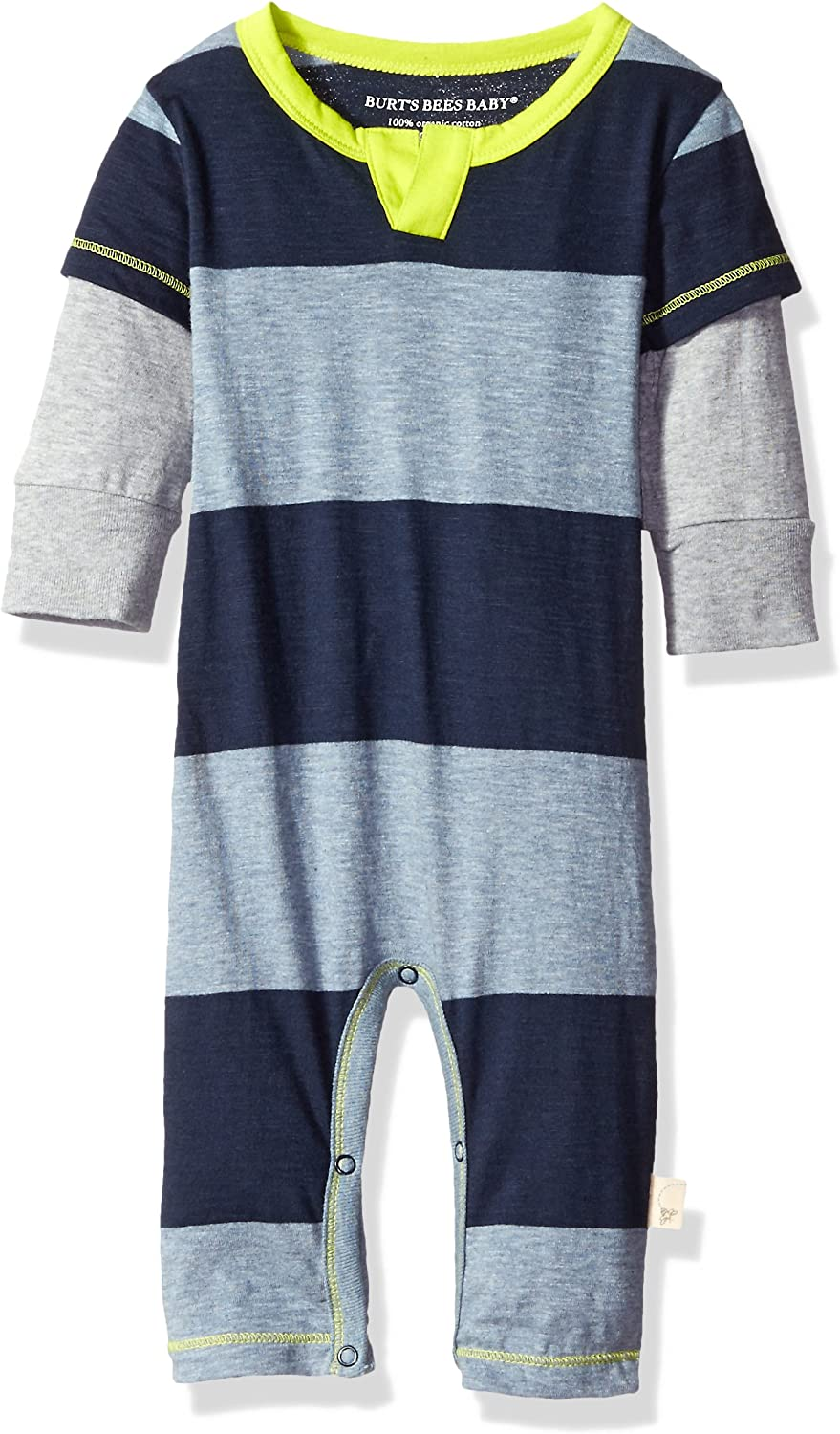 Solid Color Coverall /& Hat Set Burts Bees Baby Baby Boys Organic One-Piece Romper Coverall