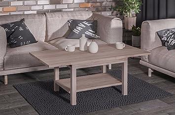 Endo Couchtisch Lyon Wohnzimmertisch Tisch Ausziehbar Erweiterbar Tisch  Wohnzimmer // San Remo Eiche Hell