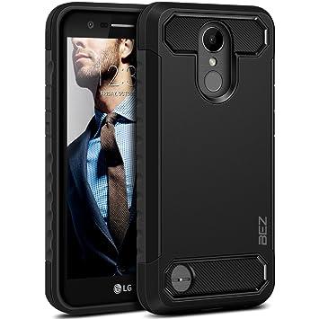 BEZ Funda LG K10 2017, Carcasa Compatible para LG K10 2017 Ultra Híbrida Gota Protección, Cover Anti-Arañazos con Absorción de Choque Resistente, ...