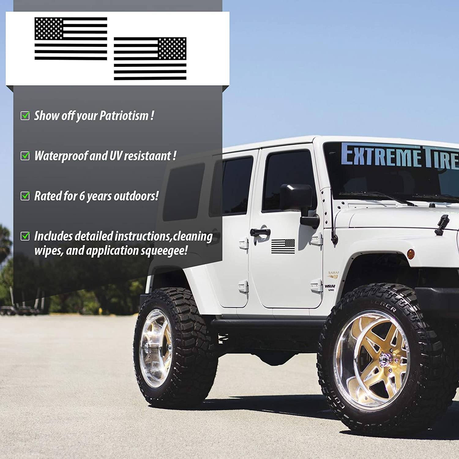 Truck Bumper 3x5.5 Hat BriCals Vinyl Decals Flat Matte Black Subdued American Flag Car and Truck Window Decal Sticker Laptop Great for Car etc Made in America 2 Pack Window Helmet
