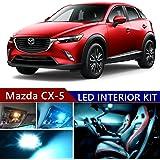 mazda cx-5 2013-2017 led premium ice blue light interior package kit (