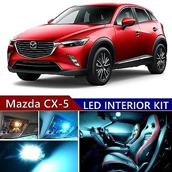 Mazda CX-5 2013 - 2017 LED Premium hielo azul luz interior kit de paquete (11 pcs): Amazon.es: Coche y moto