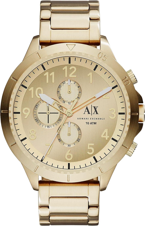 Emporio Armani Reloj Analógico para Hombre de Cuarzo Correa en Acero Inoxidable AX1752