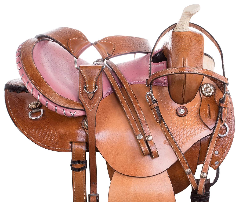 Amazon com : AceRugs Pink Barrel Racing Saddles Western Horse TACK