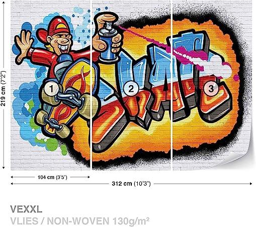 WALL MURAL PHOTO WALLPAPER XXL Graffiti Skate 3052WS