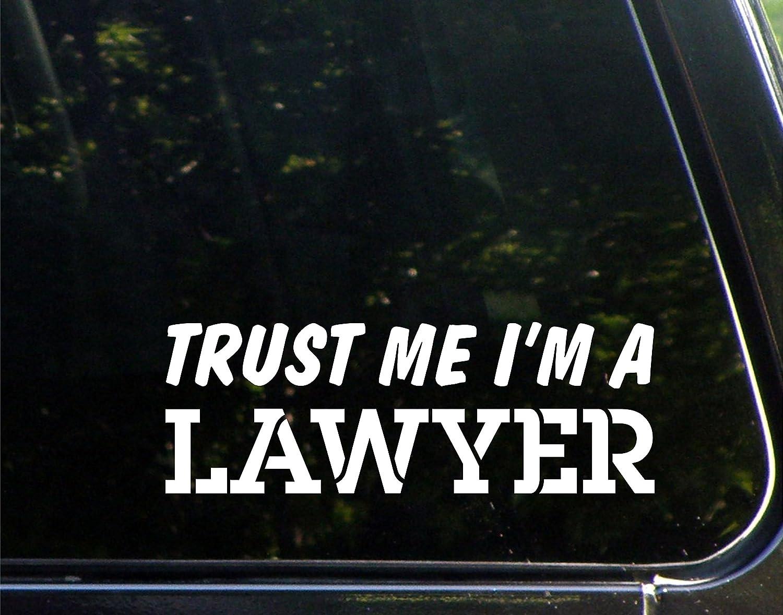 Amazon com trust me im a lawyer 8 3 4 x 3 vinyl die cut