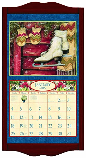 lang perfect timing lang classic vintage red calendar frame 15 x 2525 inches
