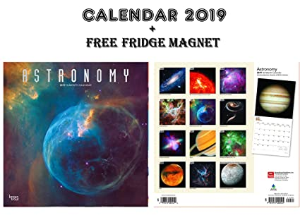 ASTORONOMY - Calendario 2019 + imán para nevera en blanco: Amazon ...