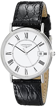 1908e2d8bfa Image Unavailable. Image not available for. Color: Longines Men's L47204112  Presence Collection Watch