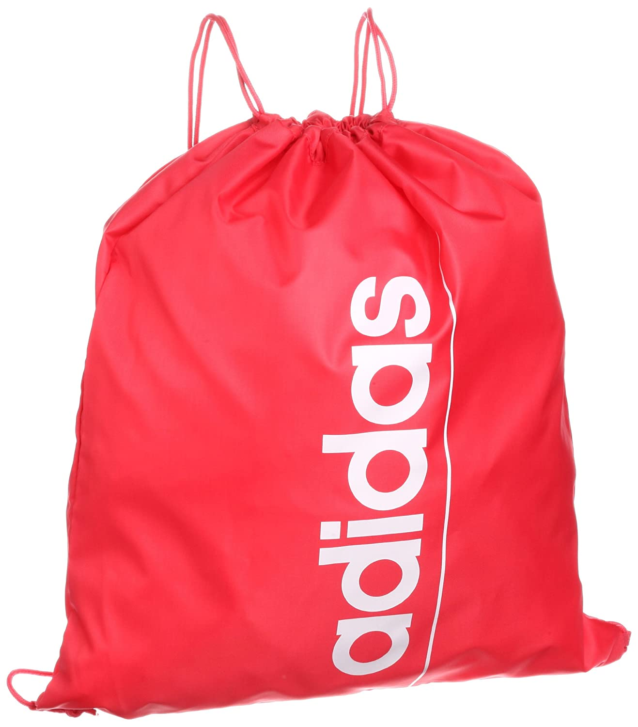 Adidas Gym Bag Linear Essential School Sports Shoe Drawstring Red White Z26361 New Amazoncouk Outdoors