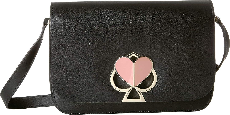 501b1e56a6ca5 Amazon.com  Kate Spade New York Women s Nicola Twistlock Medium Flap  Shoulder Black One Size  Shoes