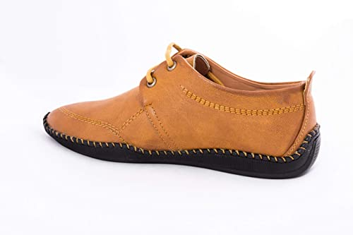 Buy LEATHERCRAFT Tan Men Casual Shoes