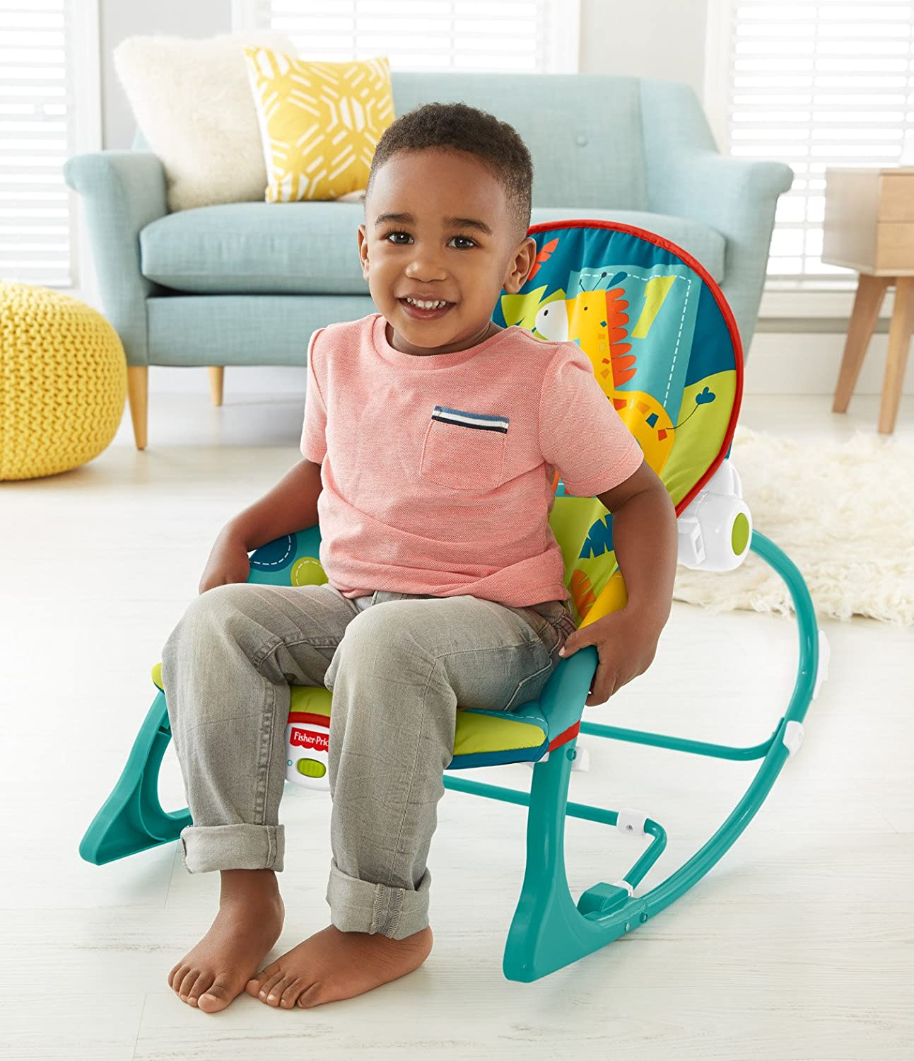 Bamboo chairs for babies - Amazon Com Fisher Price Infant To Toddler Rocker Dark Safari Infant Bouncers And Rockers Baby