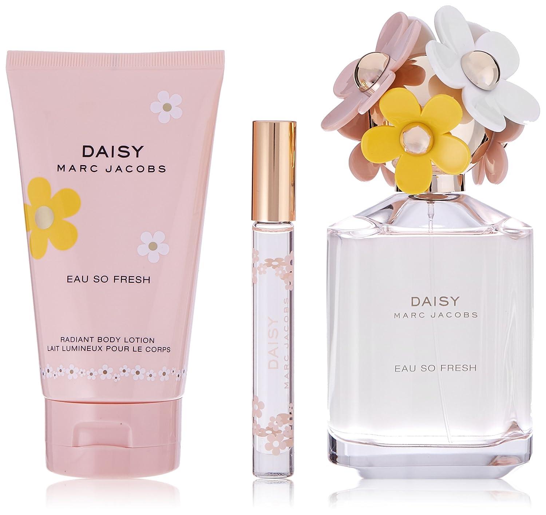 Amazon marc jacobs daisy eau so fresh 3 piece hardbox set beauty izmirmasajfo Image collections