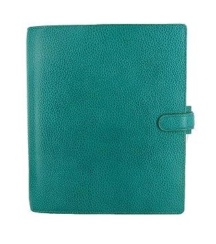 Filofax Finsbury 025327 - Agenda archivador (piel, tamaño A5), diseño granulado, color azul: Amazon.es: Oficina y papelería