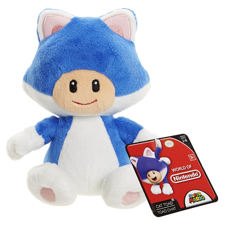 World of Nintendo 88795 Cat Toad Mario Bros U Plush