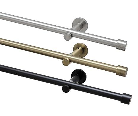 Gardinenstange auf Maß Ø 16mm Oval 1-lauf Stilgarnitur in Messing