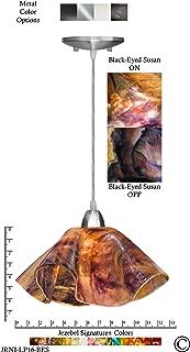 product image for Jezebel Signature Lily Pendant Large. Hardware: Nickel. Glass: Black-Eyed Susan