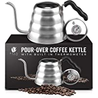 Bean Envy Gooseneck Pour Over Coffee Kettle - 40oz/1.2L - Premium Grade Stainless Steel - Insulated BPA Free Plastic…