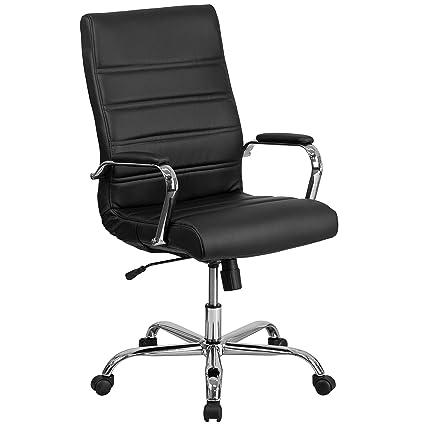 Amazon Com Flash Furniture High Back Black Leather Executive Swivel