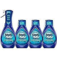 Dawn Platinum Powerwash Dish Spray, Dish Soap, Fresh Scent Bundle, 1 Spray (16 Fl Oz) Plus 3 Refills (16 Fl Oz Ea)