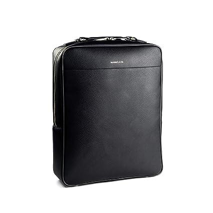 07a7690400 Amazon.com: Maverick & Co. Full-Grain Saffiano Leather Backpack, Men ...