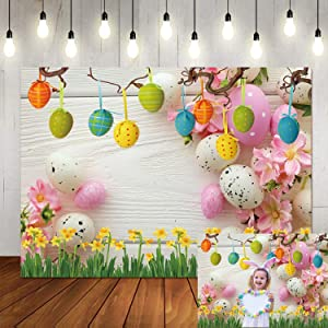 LTLYH 7x5ft Spring Easter Backdrop for Photography Wood Floor Background for Adult Portraits Photo Backdrop Studio Props 095