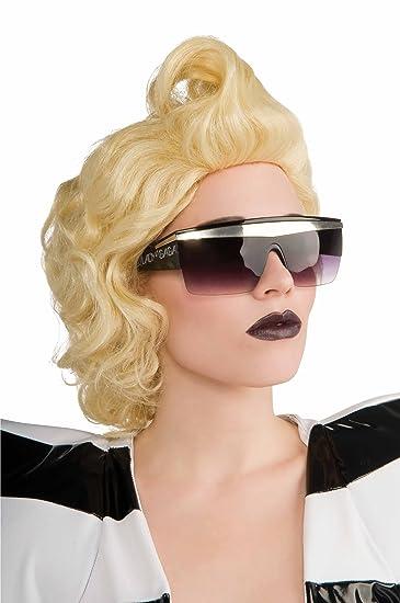 Original Lizenz Sexy Lady Gaga Sonnenbrille Sonnen Brille in Schwarz Silberbalken Silver vZb31