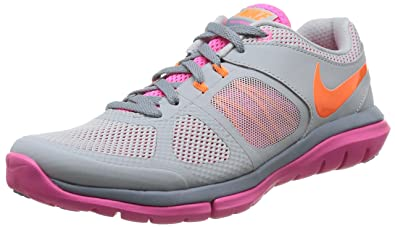 sale retailer 96c96 fd1e7 Image Unavailable. Image not available for. Colour  Nike Kids Air Max Tavas  PS Running Shoe Grey Mist   Total Orange - Pink Pow