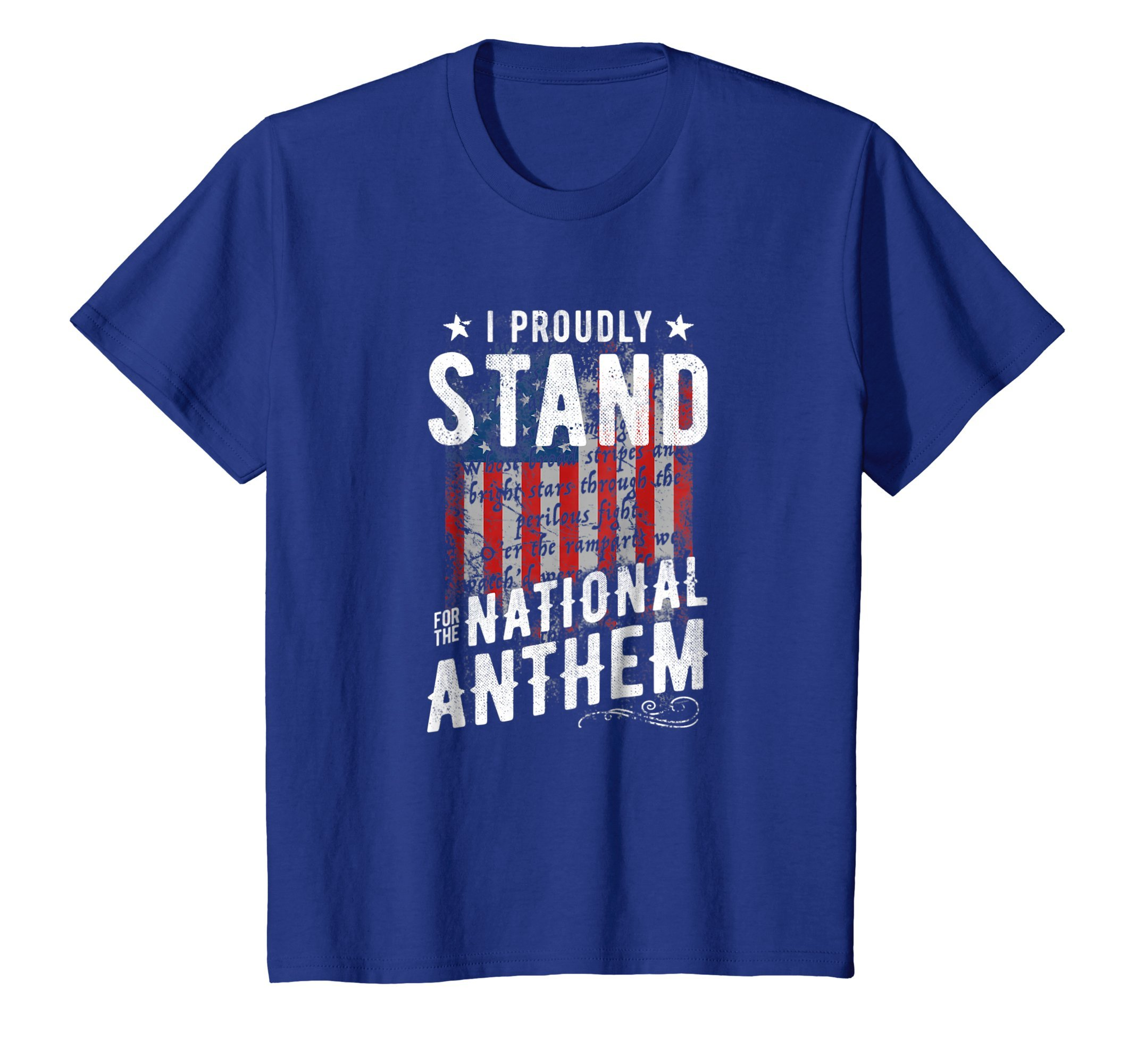 I Stand For The National Anthem T-Shirt USA Flag