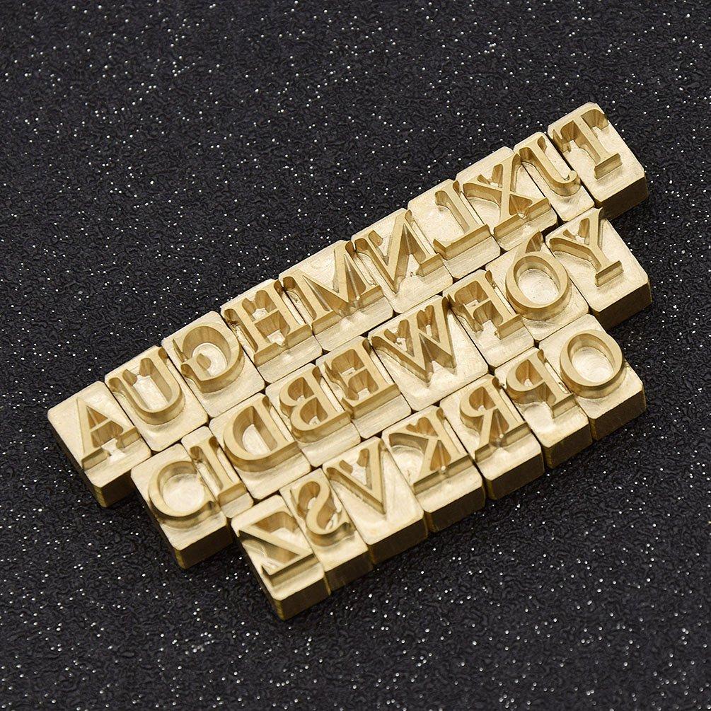 fabricaci/ón de joyer/ía de cuero 9 para manualidades de cuero bolsos CHZIMADE n/úmeros 0 artesan/ía Juego de 36 piezas de perforadoras de sellos de metal con 26 letras del alfabeto