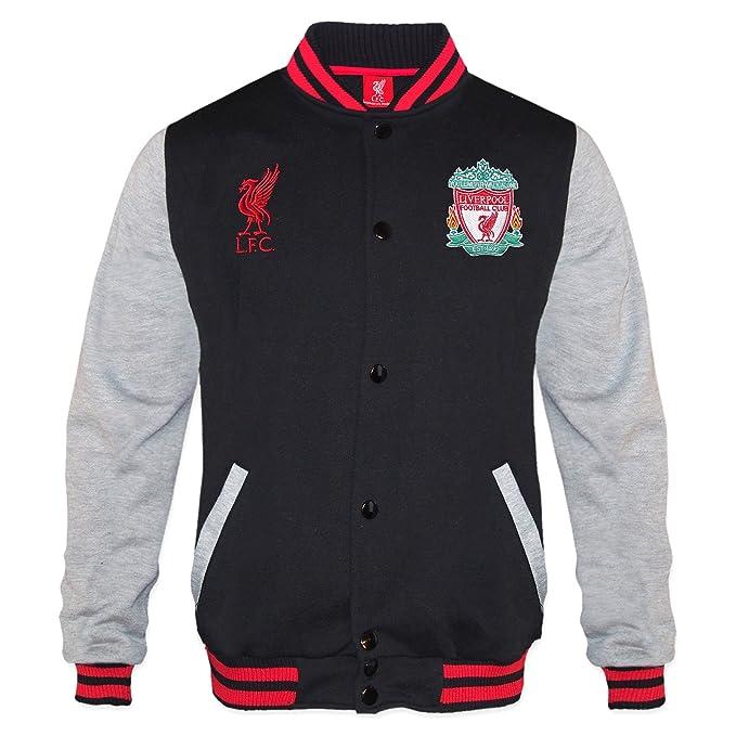 Liverpool FC - Chaqueta deportiva oficial para hombre - Estilo béisbol  americano - Negro - Large c29a84f9fd2e0