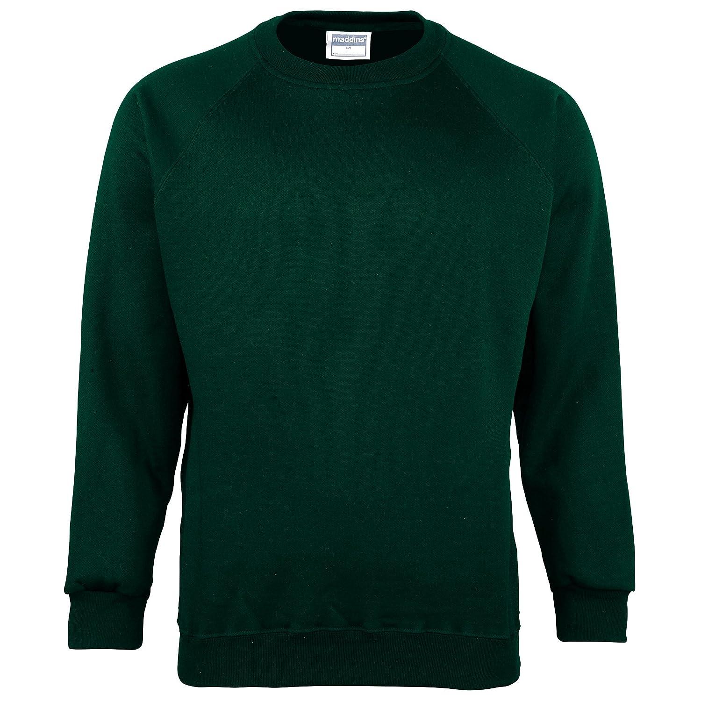 43eb72326ff Amazon.com  Maddins Men s Plain Crew Neck Sweatshirt  Clothing