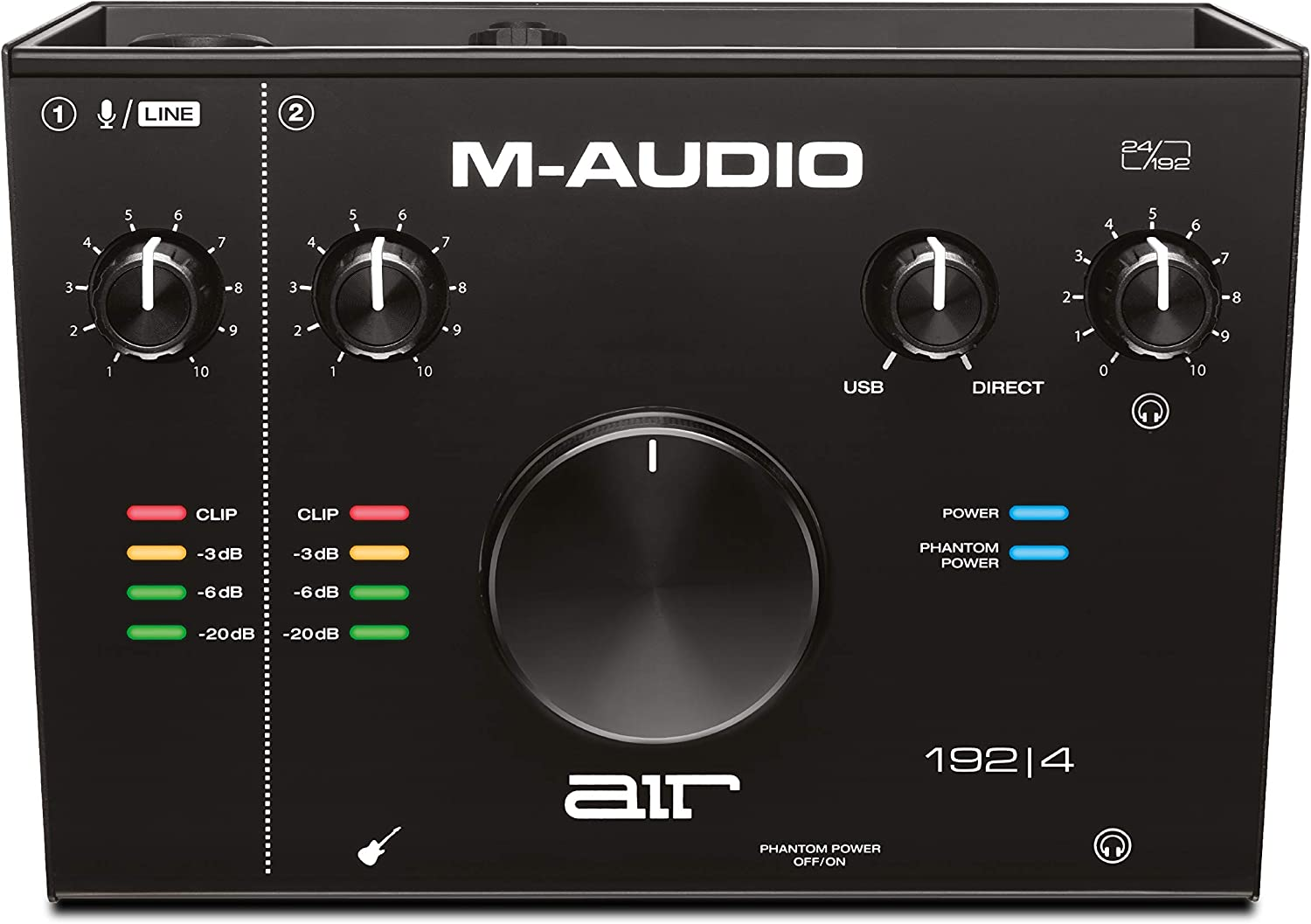 M-Audio AIR 192|4 — 2-In/2-Out USB Audio Interface with Recording Software from ProTools & Ableton Live, Plus Studio-Grade FX & Virtual Instruments