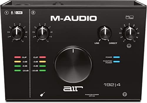 M-Audio AIR 192|4 - 2-In/2-Out USB Audio Interface with Recording Software