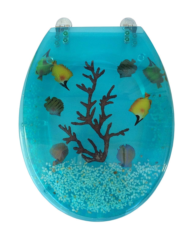 Copriwater sedile tavoletta wc in plexiglass colorato con ...
