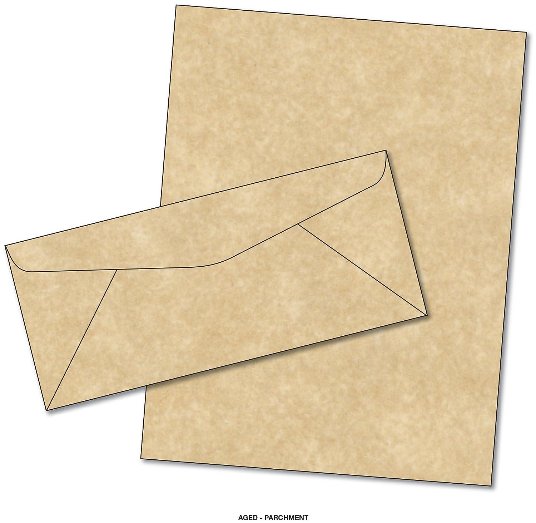 amazon com parchment matching paper u0026 envelopes color aged