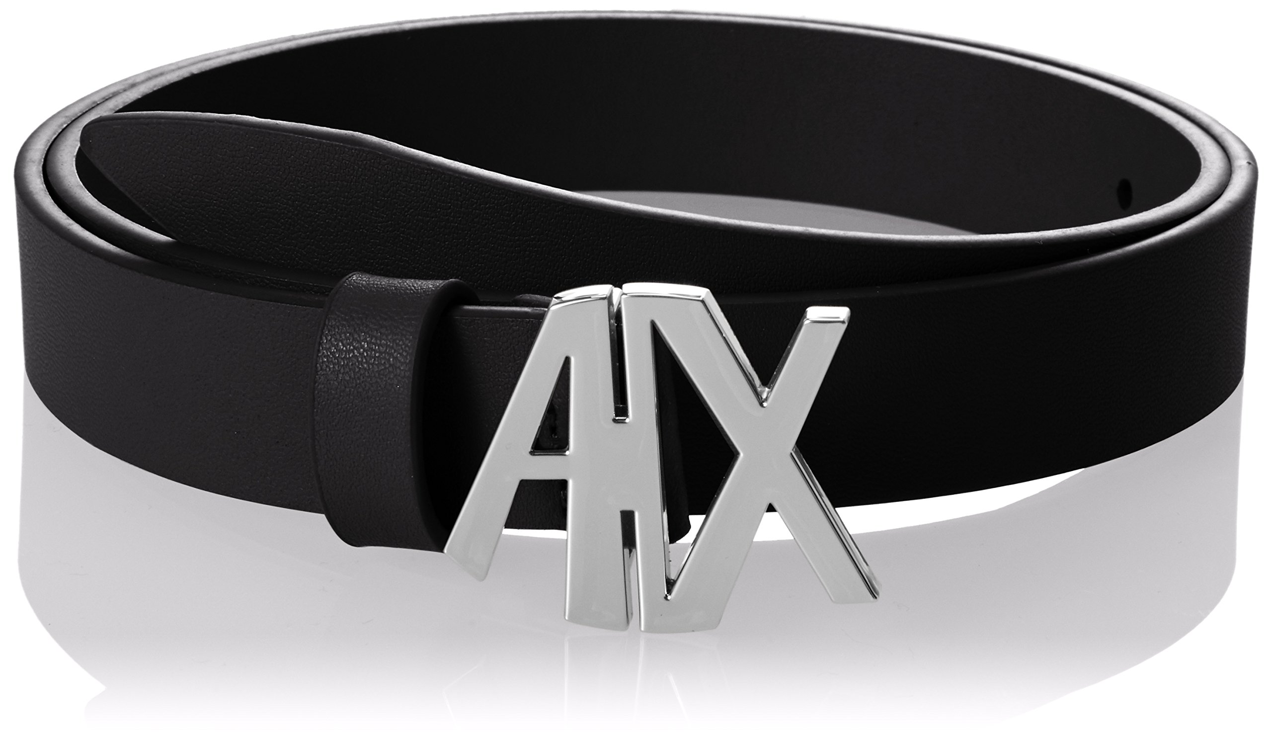 A|X Armani Exchange Women's AX Buckle Belt, Black, m
