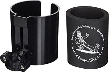 """Coozee...USA Motorcycle /& ATV Cup Holder Barefoot Willies 7//8/"""" Bars Bicycle"""