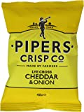 Pipers Crisps Lye Cross Cheddar and Onion (Pack of 24)