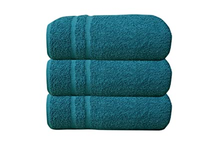 Juego de toallas de lujo de algodón suave, tamaño jumbo (