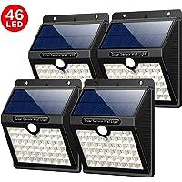 Luz Solar Jardín,Yacikos 4 Paquetes 46 LED Foco Solar 1800mAh Lámpara Solar Exterior con