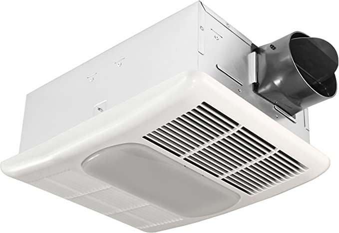 Delta BreezRadiance RAD80L 80 CFM Exhaust Bath Fan with Light and Heater